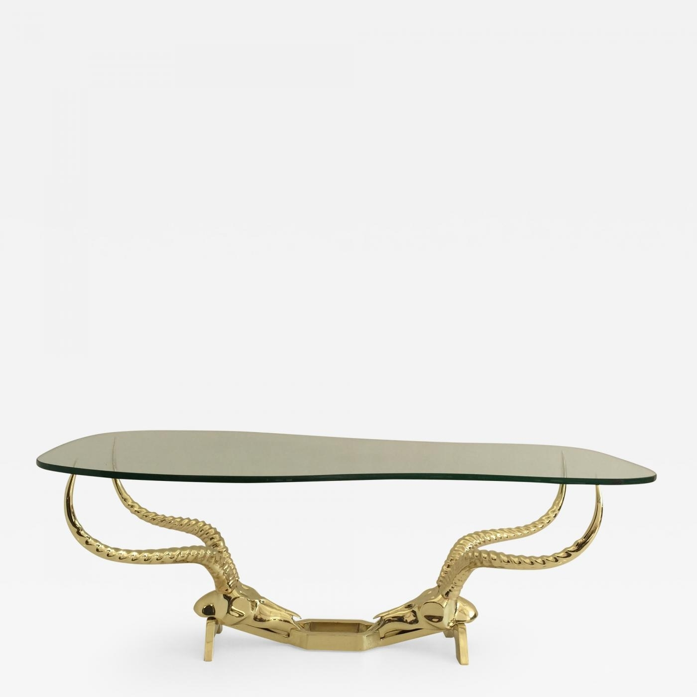 Alain Chervet - Brass Ibex Ram Head Coffee Tablefondica intended for Cacti Brass Coffee Tables (Image 2 of 30)