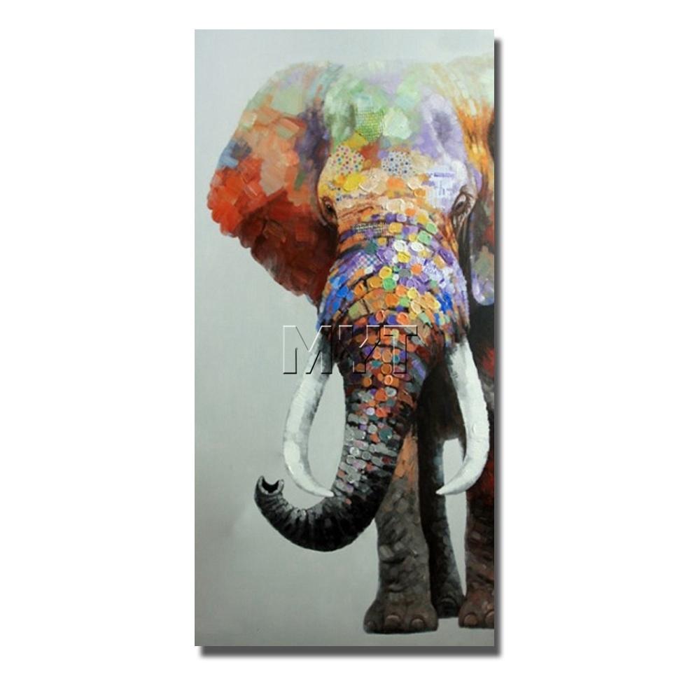 Aliexpresscom : Buy Indian Elephant Wild Animal Canvas Wall Art regarding Animal Canvas Wall Art (Image 5 of 20)