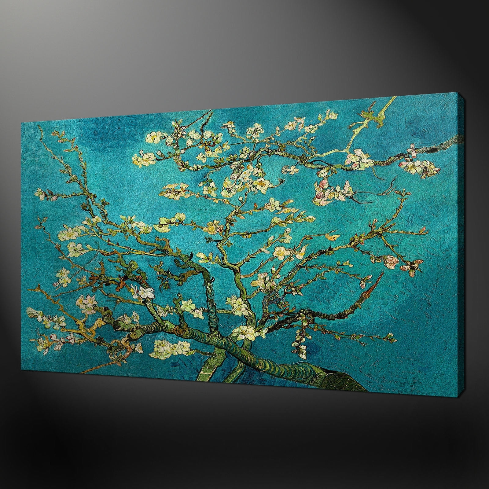 Almond Tree Van Gogh Regarding To Large Canvas Teal Wall Art Simple regarding Oversized Teal Canvas Wall Art (Image 2 of 20)