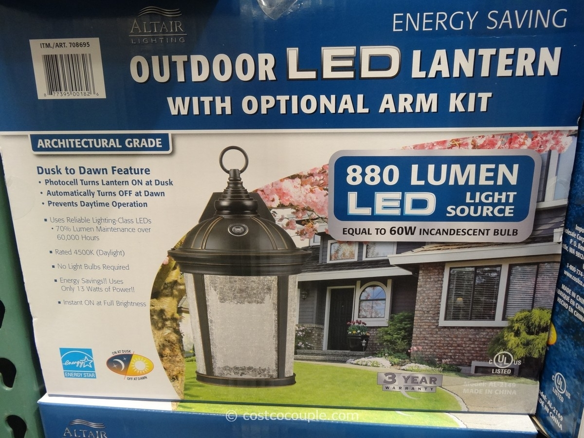 Altair Led Outdoor Coach Lantern Light Costco Dimensions Lighting For Outdoor Lanterns With Led Lights (View 20 of 20)