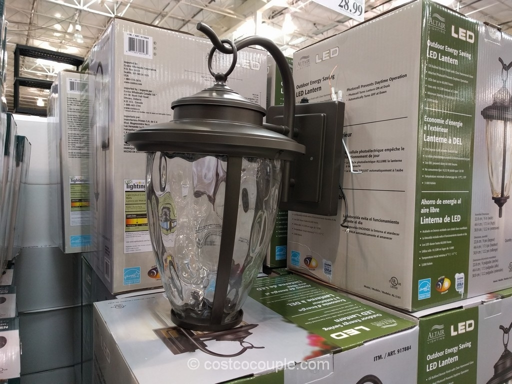 Altair Lighting Outdoor Led Lantern Inside Outdoor Lanterns At Costco (View 2 of 20)