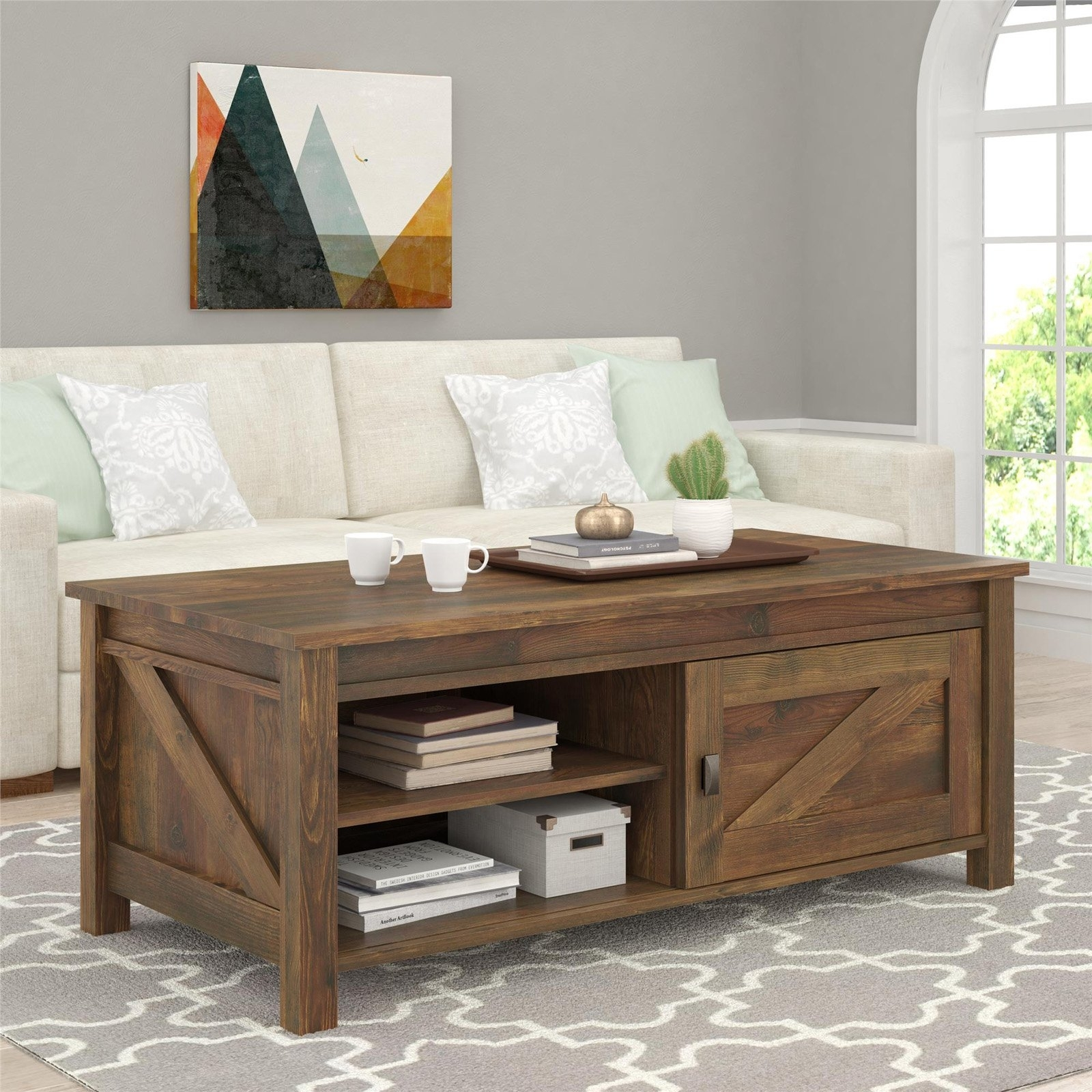 Altra Farmington Coffee Table - Century Barn Pine - Walmart within Element Coffee Tables (Image 2 of 30)