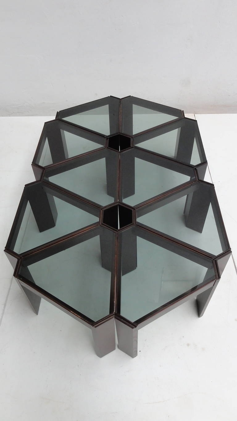 Amazing 1970S Geometric Modular Coffee Table Or Display, Ten Pieces with Modular Coffee Tables (Image 1 of 30)
