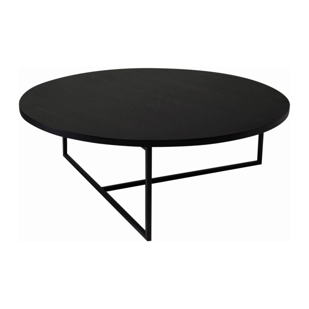 Amazing Black Coffee Table Turner Round Zillo Hutch Matt Ash in Darbuka Black Coffee Tables (Image 1 of 30)
