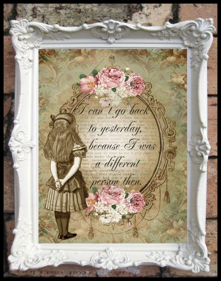 Amazing Collection Of Shabby Chic Canvas Wall Art Ideas Image For throughout Shabby Chic Wall Art (Image 2 of 20)