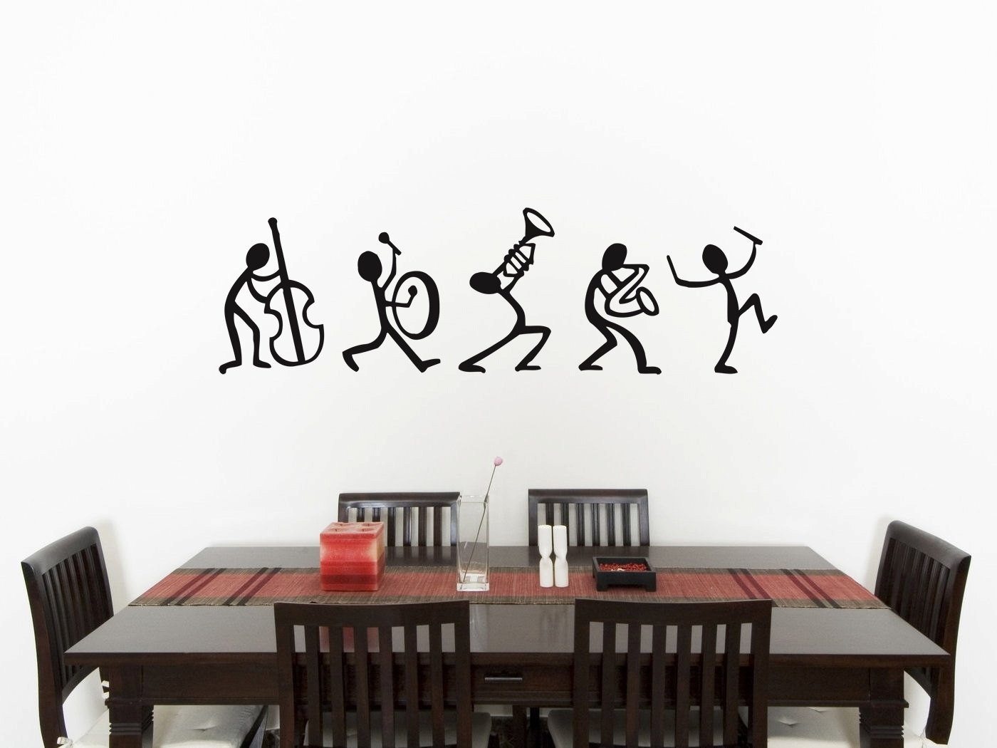 Amazing Men Bedroom Wall Art Music Stick Man Sticker Picture Decal with Bedroom Wall Art (Image 4 of 20)