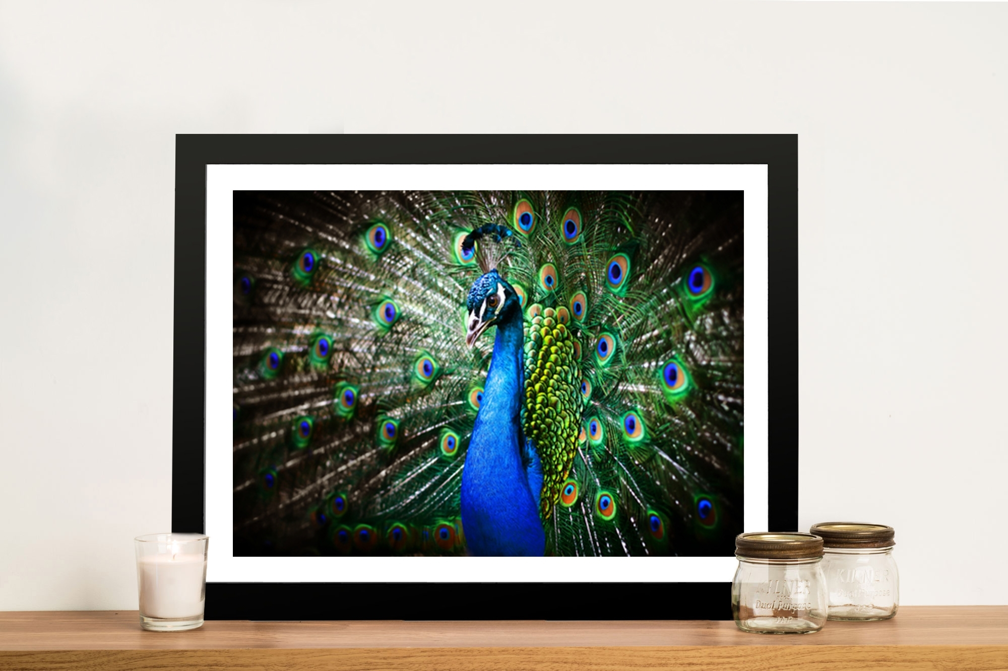 Amazing Peacock Framed Wall Art & Canvas Giclee Artwork Carlton Pertaining To Peacock Wall Art (View 19 of 20)
