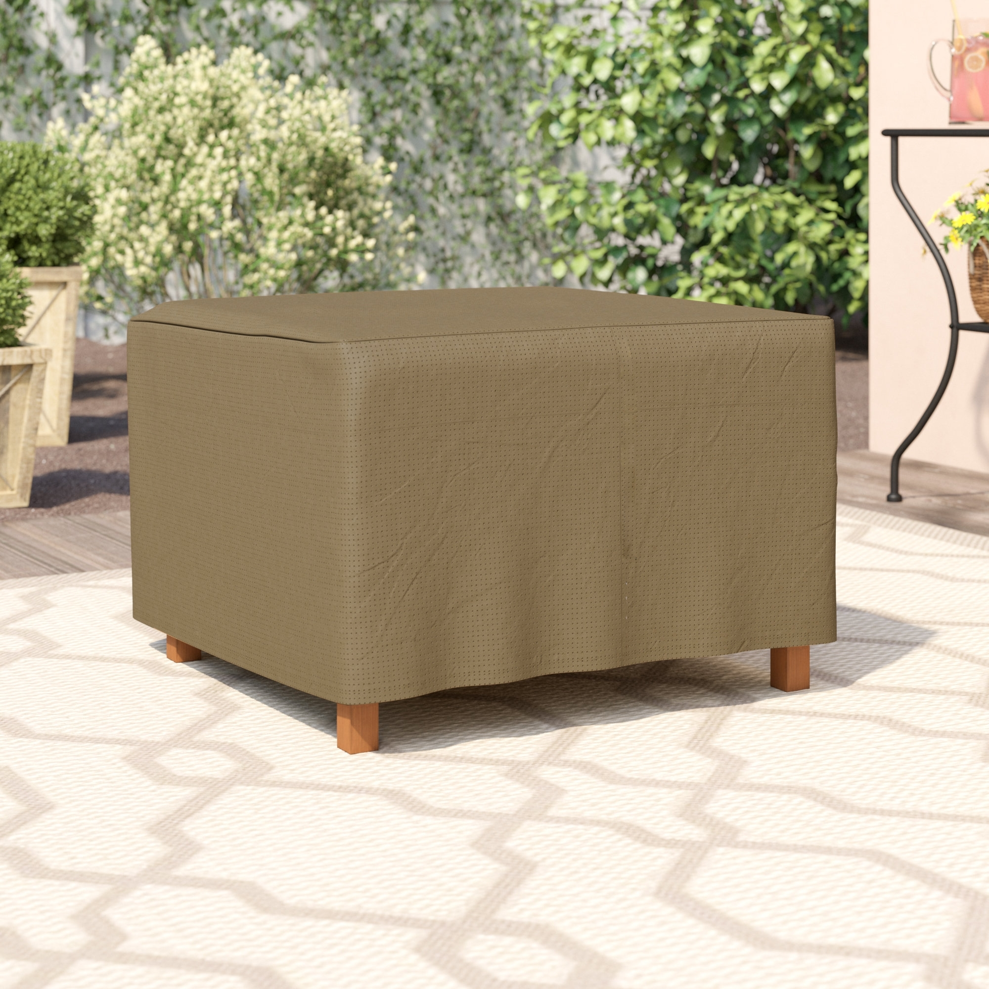 Amazing Side Table Cover Casbah Coffee Review C H Cloth With Fabric in Casbah Coffee-Side Tables (Image 2 of 30)