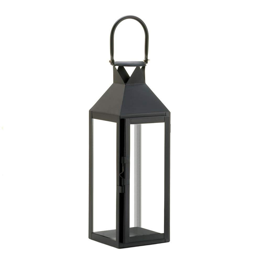 Amazon: 10 Wholesale Set Of Black Manhattan Candle Lantern: Home regarding Outdoor Candle Lanterns (Image 2 of 20)