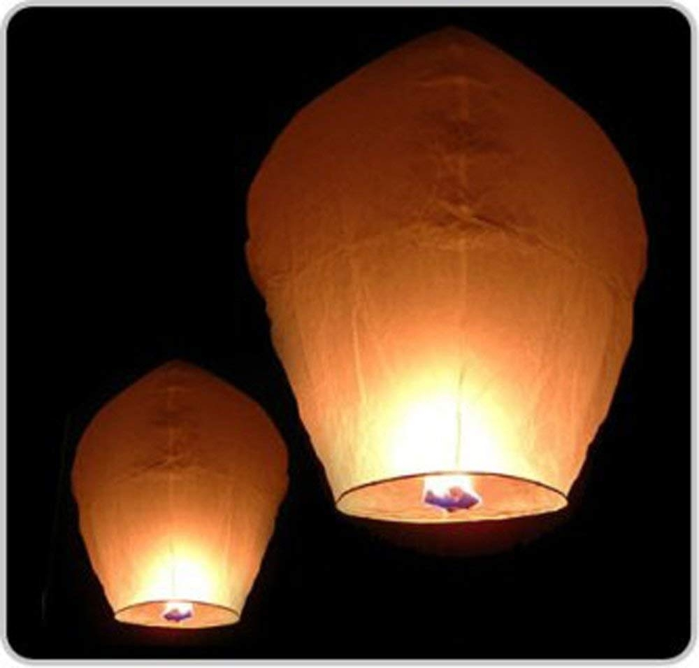 "Amazon: 12 Premium Sky Lanterns 40"" Tall Hot Air Balloons intended for Outdoor Memorial Lanterns (Image 3 of 20)"