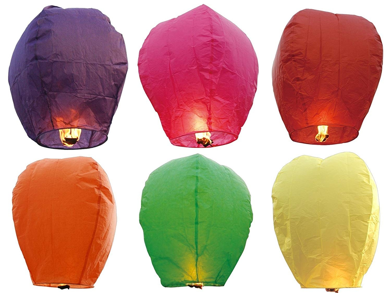 "Amazon: 36 Premium Sky Lanterns 40"" Tall Hot Air Balloons - 6 within Outdoor Memorial Lanterns (Image 4 of 20)"