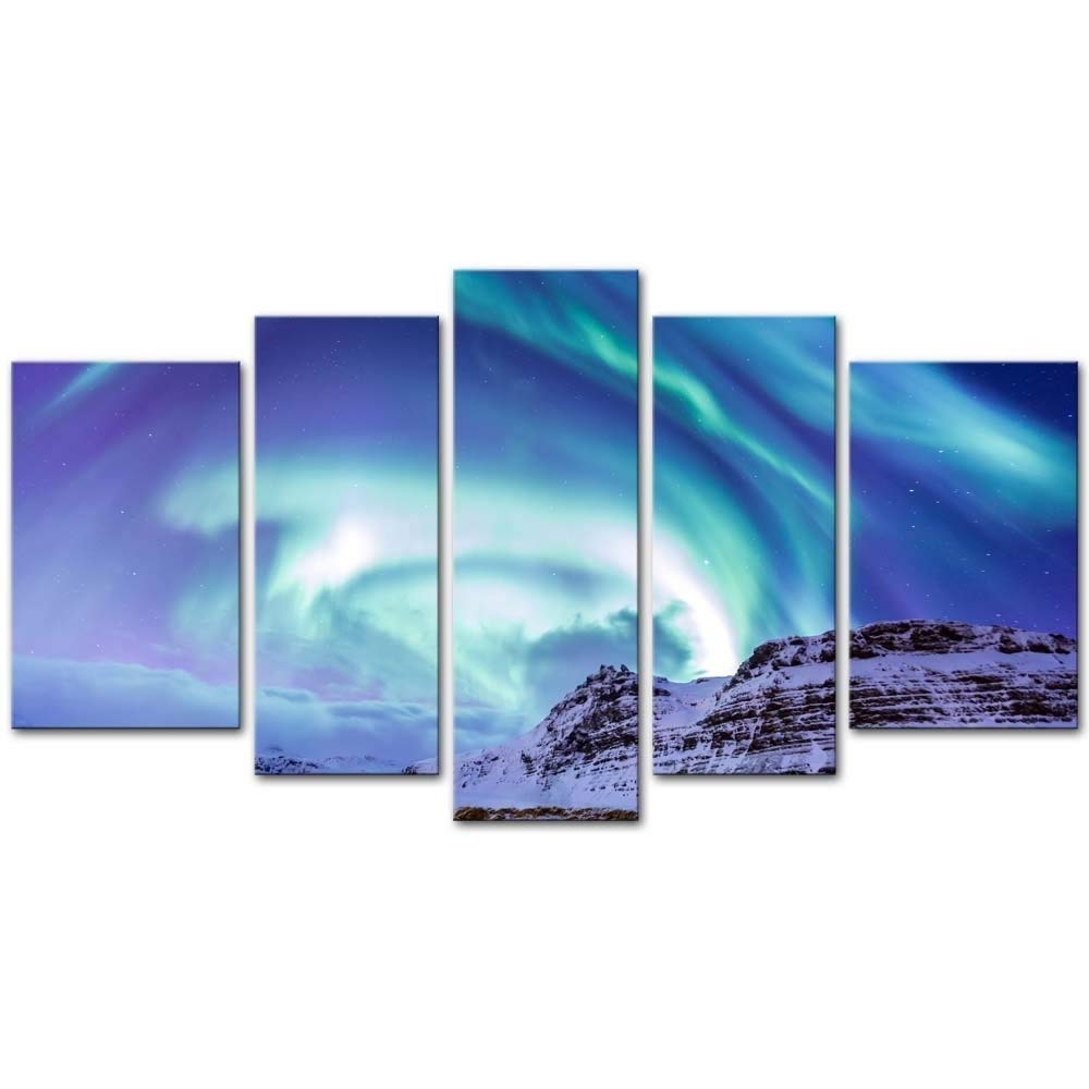 Amazon: 5 Pieces Modern Canvas Painting Wall Art The Picture For Regarding 5 Piece Wall Art Canvas (View 8 of 20)