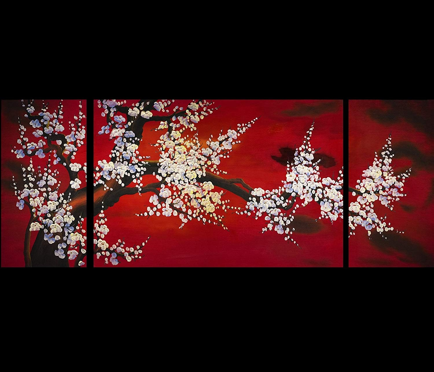 Amazon: Abstract Art Plum Blossom Chinese Feng Shui Painting with regard to Asian Wall Art (Image 3 of 20)
