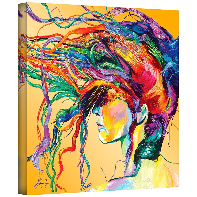 Amazon: Art Wall Lynn-001-36X36-W Linzi Lynn 'windswept' Gallery in Modern Painting Canvas Wall Art (Image 7 of 20)