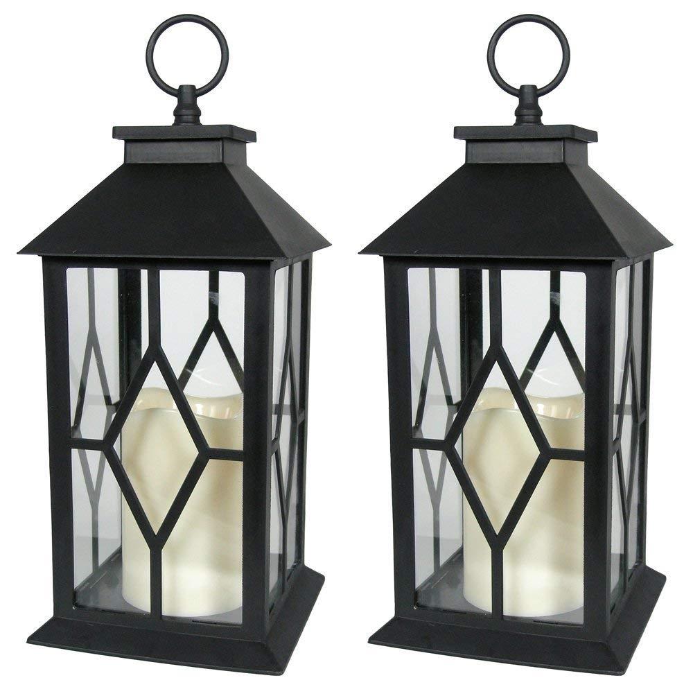 Amazon: Banberry Designs Decorative Lanterns - Black Decorative inside Outdoor Decorative Lanterns (Image 1 of 20)