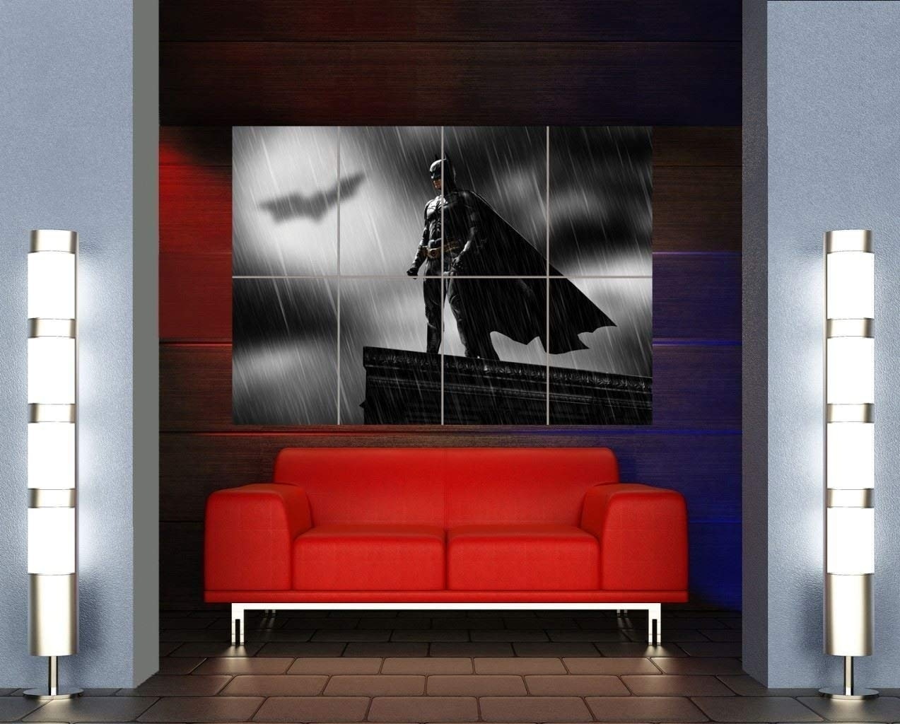 Amazon: Batman Superhero Art Bat Signal Giant Wall Art Print Intended For Huge Wall Art (View 11 of 20)