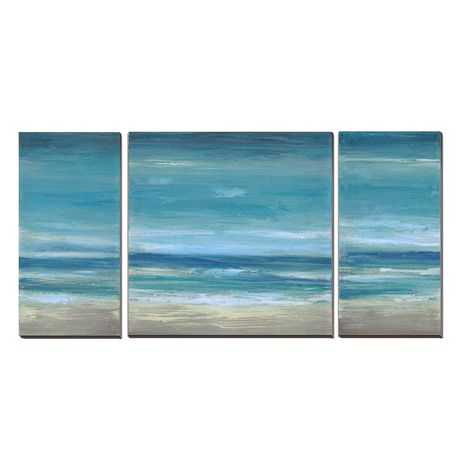 Amazon: Blue Seascape Ocean Canvas Prints With Embellishment pertaining to Ocean Wall Art (Image 7 of 20)