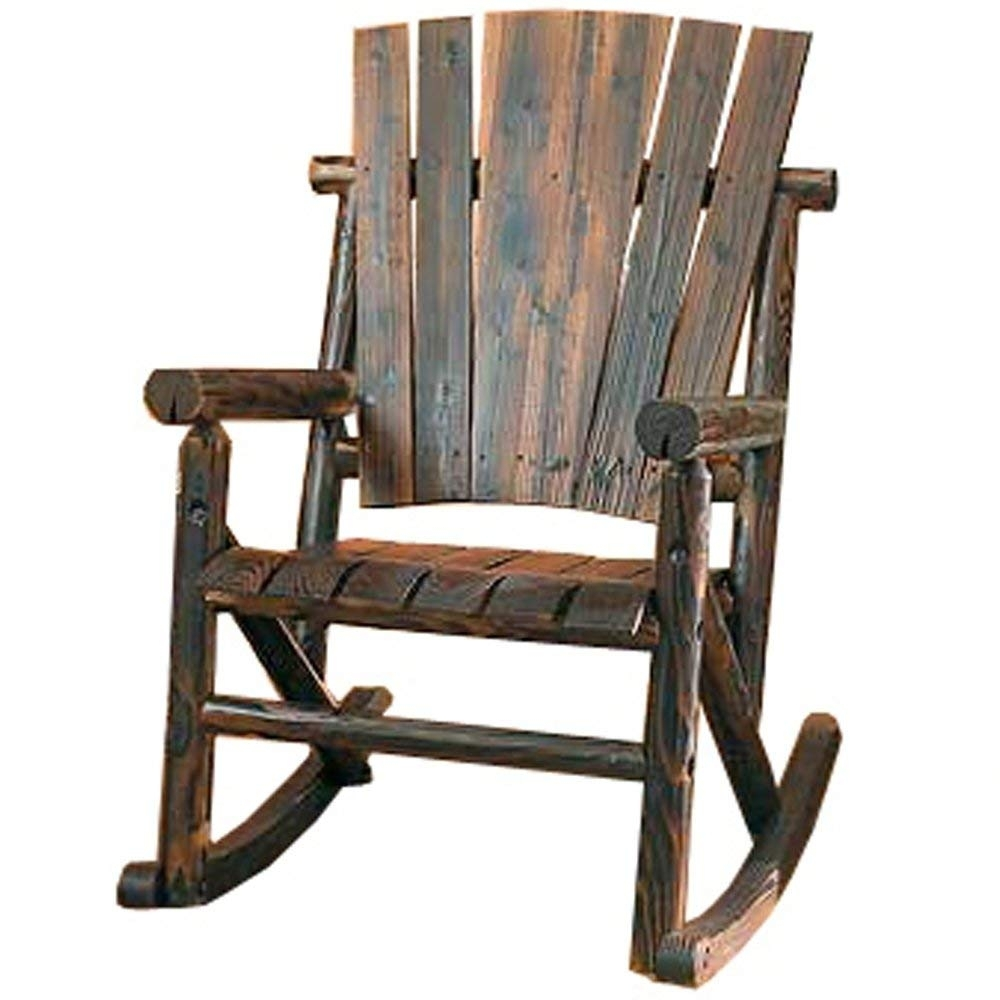 Amazon : Char Log Single Rocker : Rocking Chairs : Garden & Outdoor Pertaining To Kroger Outdoor Lanterns (View 17 of 20)
