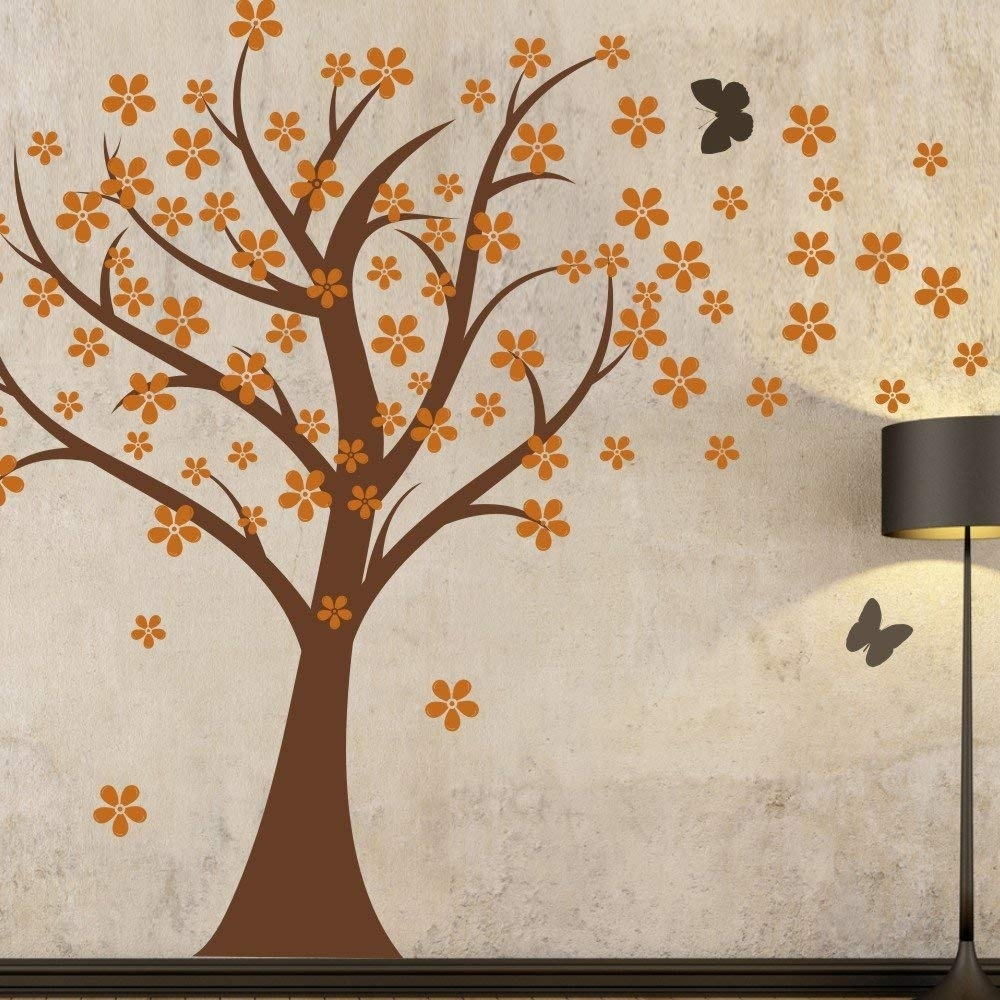 Amazon: Cherry Blossom Wall Decal Kids Wall Art Baby Nursery pertaining to Cherry Blossom Wall Art (Image 4 of 20)