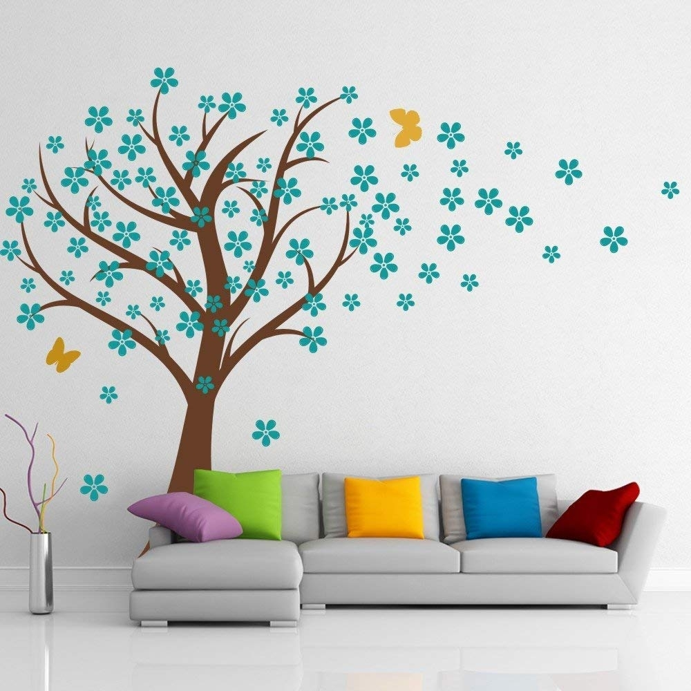 Amazon: Cherry Blossom Wall Decals Baby Nursery Tree Decals Kids within Cherry Blossom Wall Art (Image 5 of 20)