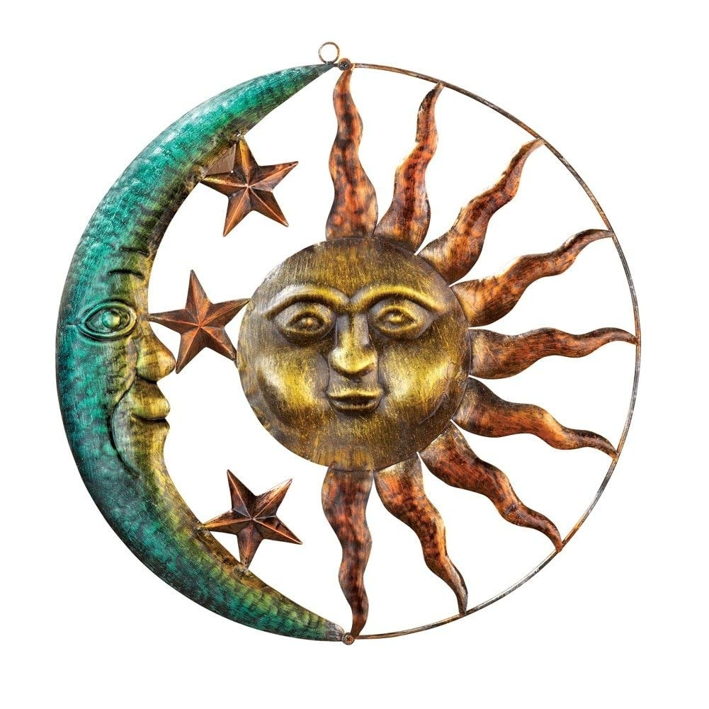 Amazon : Collections Etc Artistic Sun And Moon Metal Wall Art intended for Sun and Moon Metal Wall Art (Image 3 of 20)