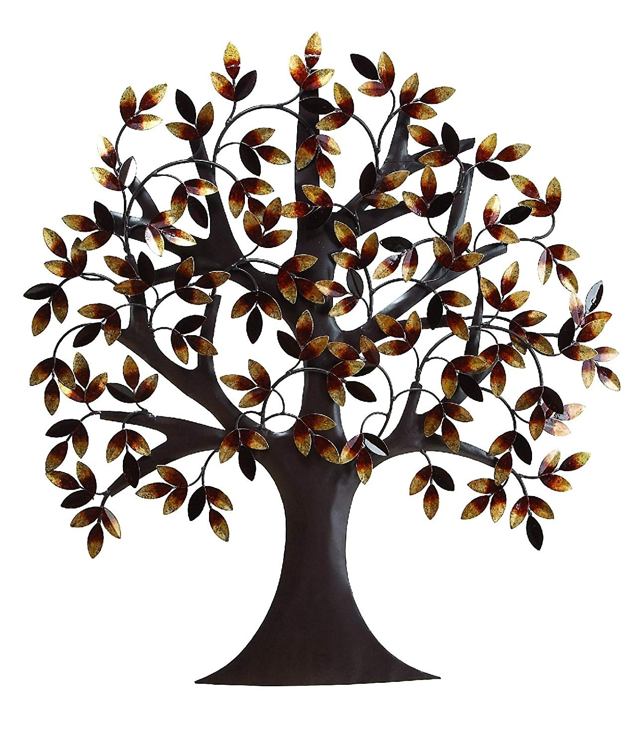 "Amazon: Deco 79 13862 Metal Tree Wall Decor 32""h, 31""w: Home with Tree Wall Art (Image 2 of 20)"