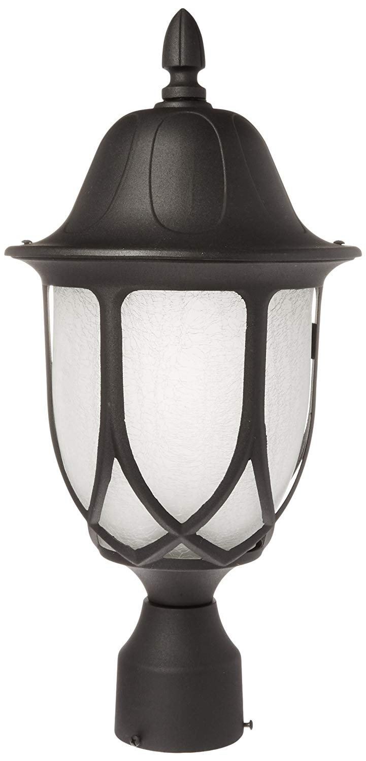 Amazon : Designers Fountain 2866-Bk Capella Post Lanterns, Black pertaining to Outdoor Lanterns On Post (Image 2 of 20)
