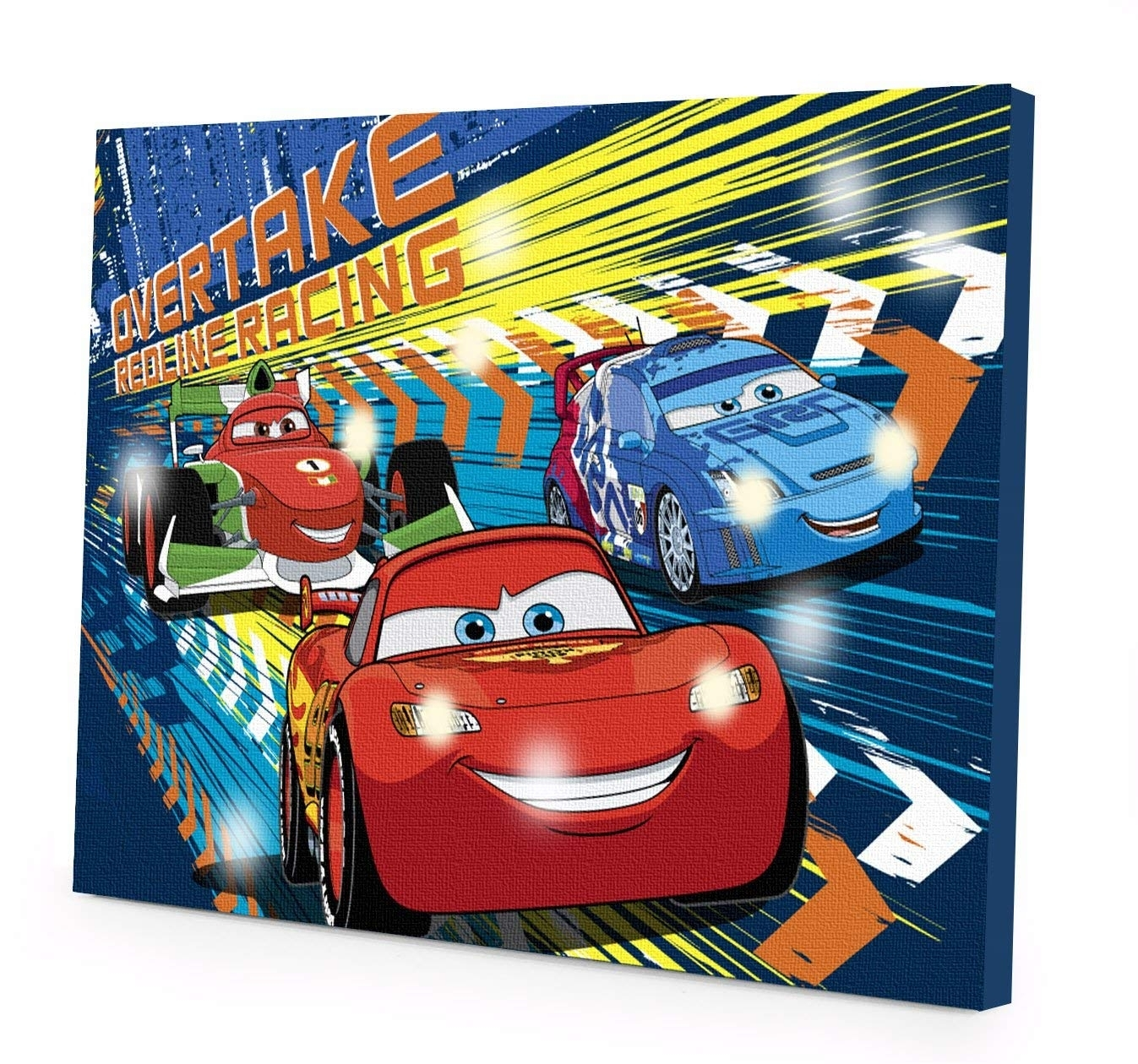 Amazon: Disney Cars 3 Led Canvas Wall Art, 15.75-Inch X 11.5 in Car Canvas Wall Art (Image 9 of 20)