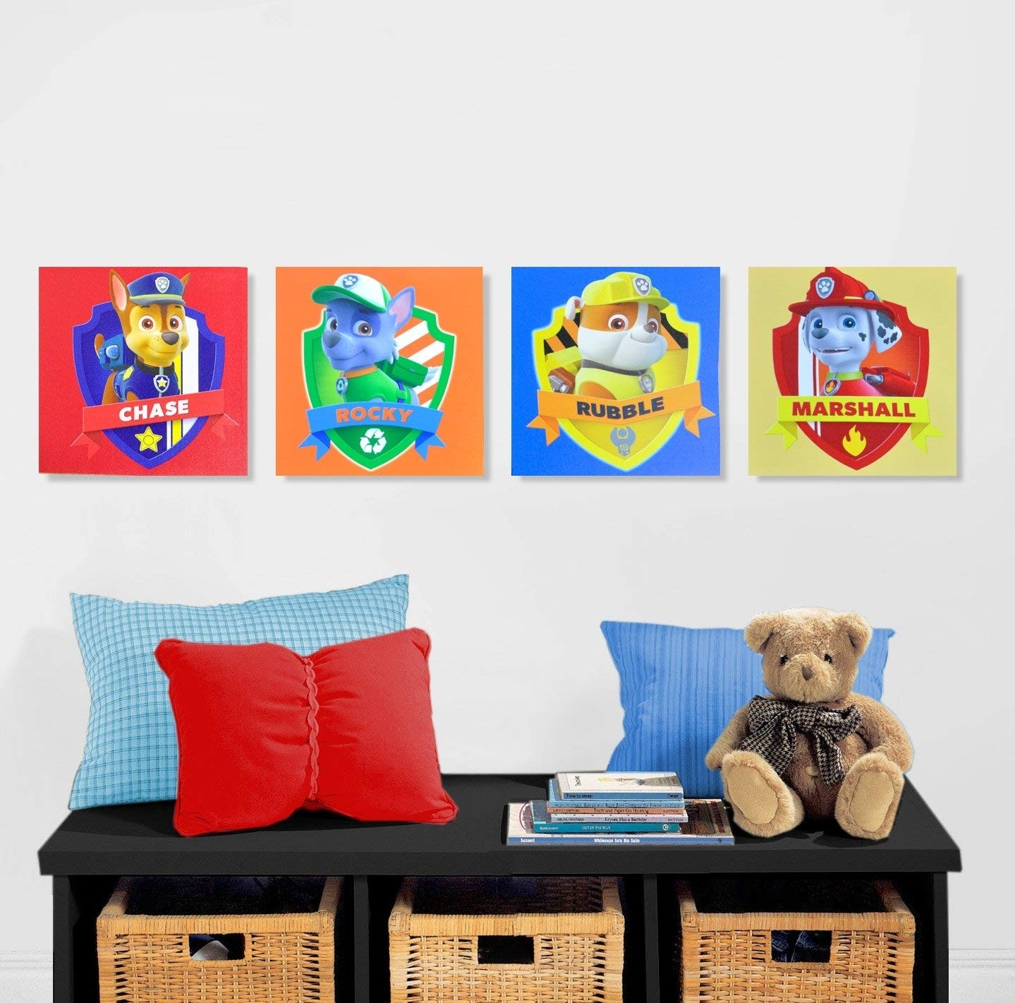 Amazon: Disney Minnie Mouse Canvas Wall Art (4-Piece): Toys & Games intended for Mickey Mouse Canvas Wall Art (Image 2 of 20)
