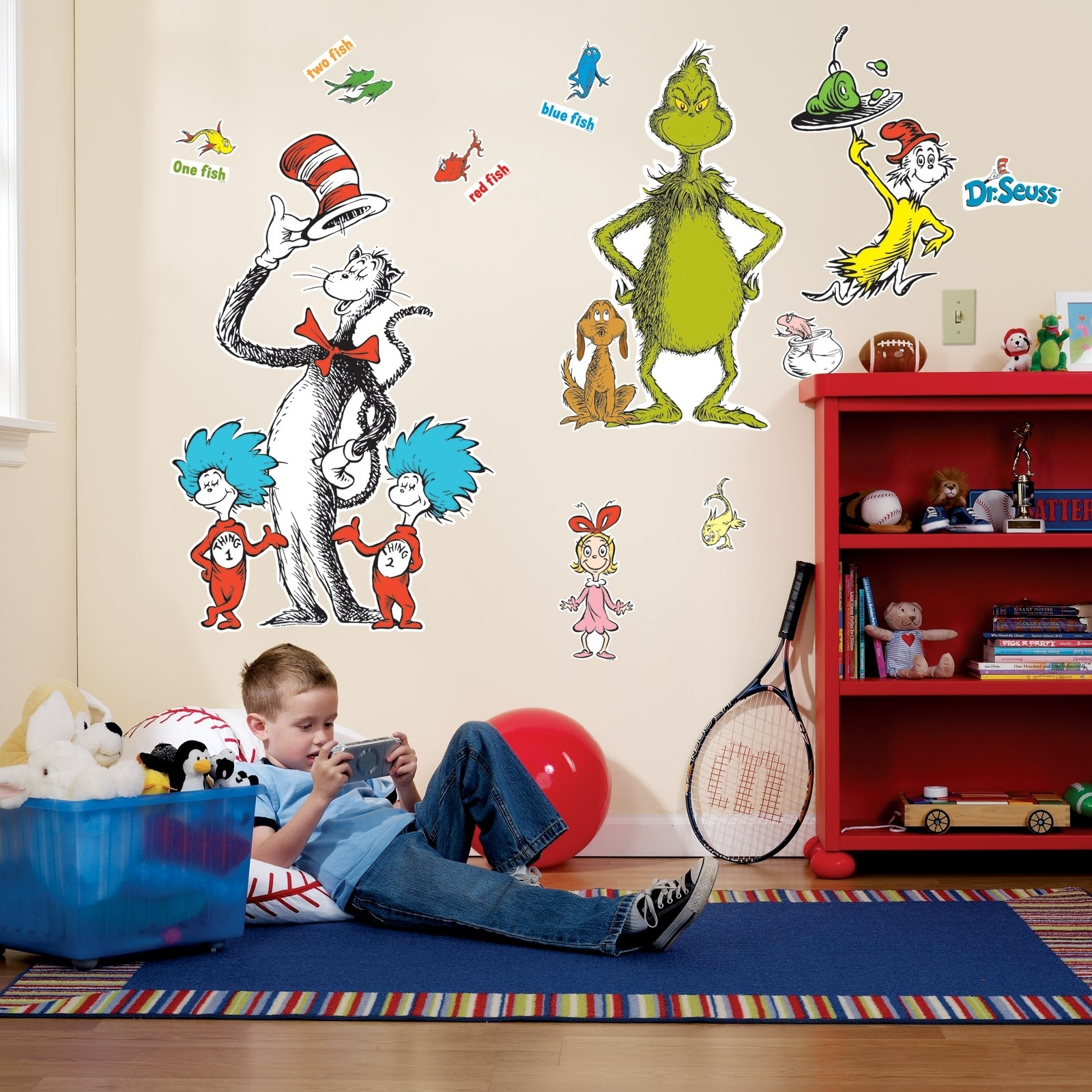 Amazon: Dr Seuss Room Decor – Giant Wall Decals: Toys & Games For Dr Seuss Wall Art (View 8 of 20)