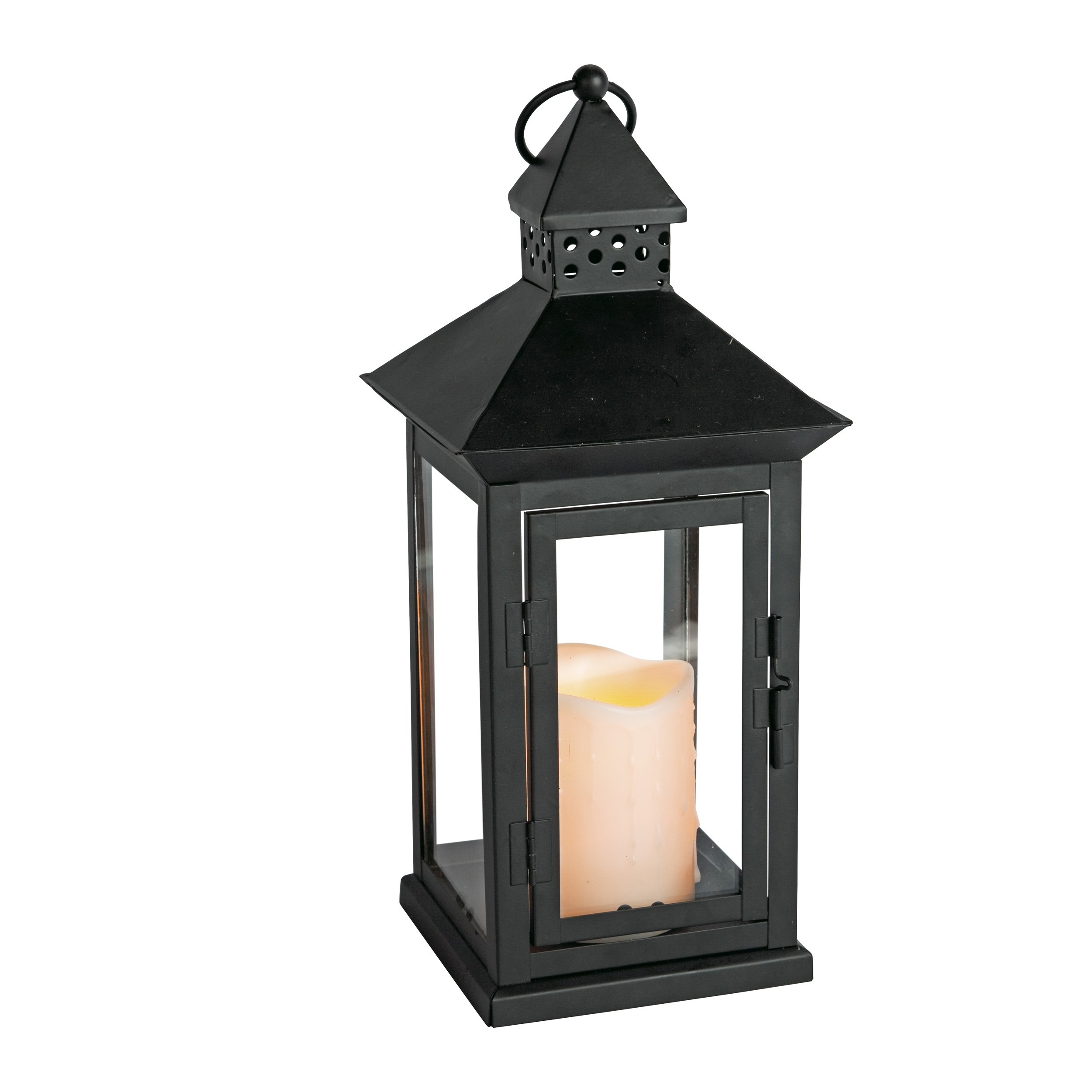 "Amazon: Everlasting Glow Indoor/outdoor 6"" X 14"" Lantern And Led in Outdoor Lanterns With Battery Candles (Image 3 of 20)"