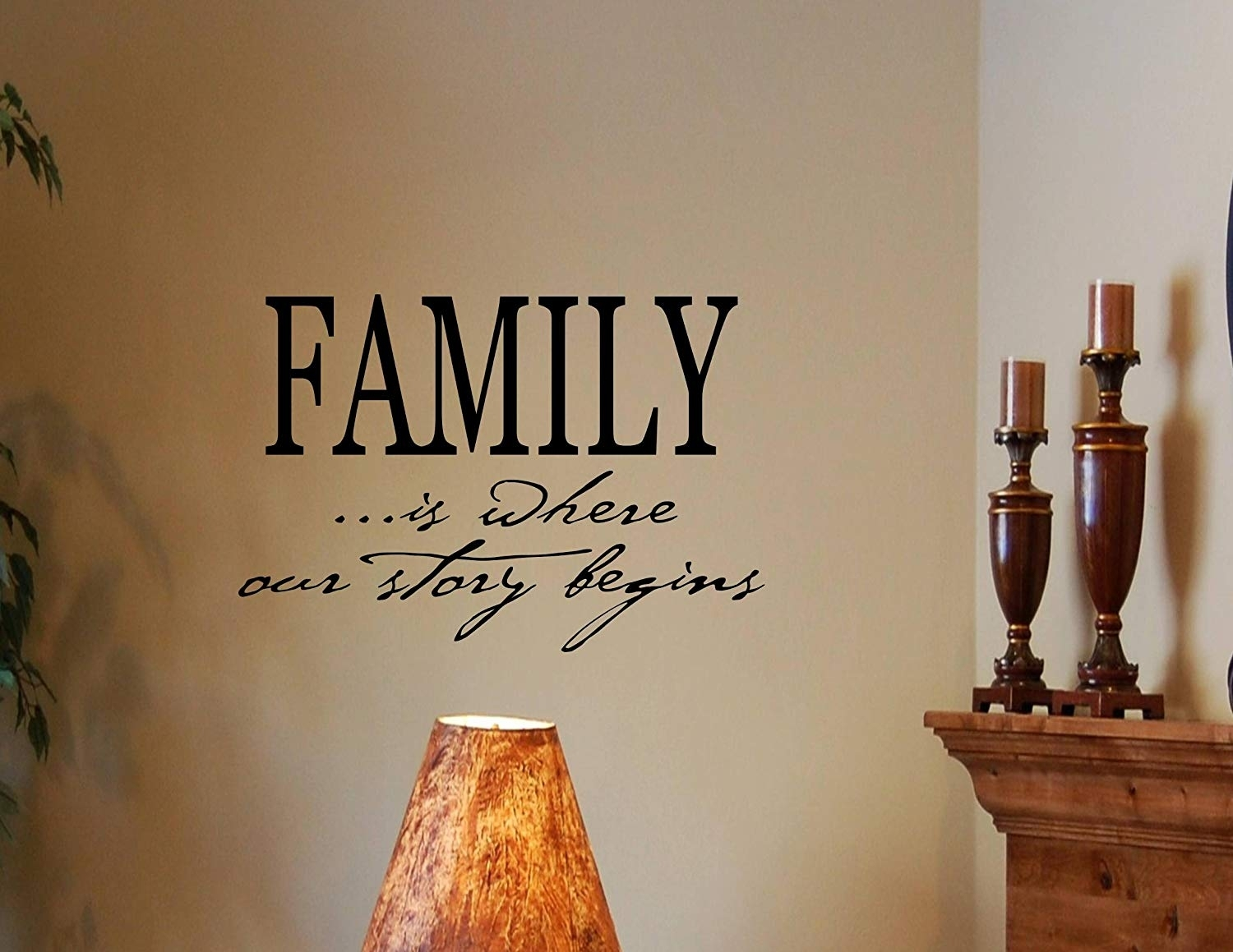Amazon: Family Is Where Our Story Begins Vinyl Wall Decals Inside Wall Art Sayings (View 13 of 20)