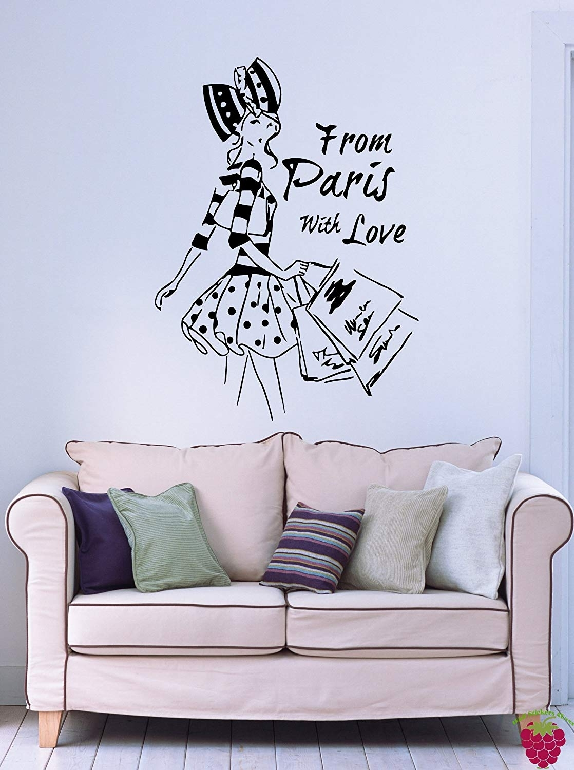 Amazon: From Paris With Love French Fashion Woman Decor Wall Art regarding Paris Wall Art (Image 4 of 20)