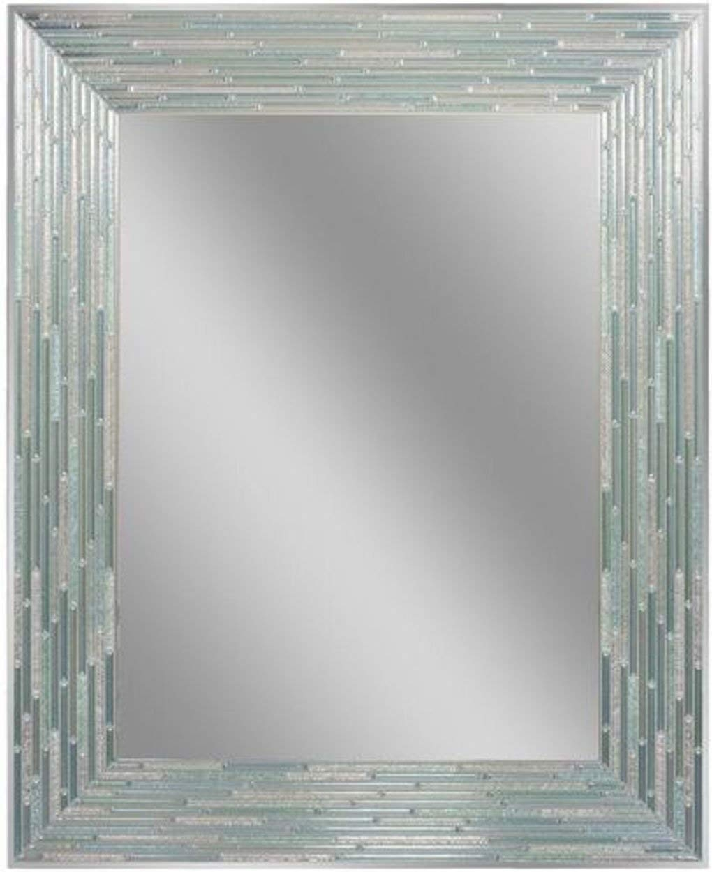 "Amazon: Headwest Reeded Sea Glass Wall Mirror, 24"" X 30"": Home Intended For Sea Glass Wall Art (View 1 of 20)"