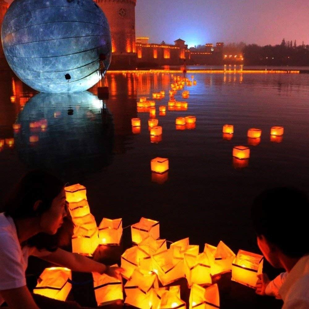 Amazon: Homecube Outdoor Water Floating Candle Lanterns regarding Outdoor Memorial Lanterns (Image 7 of 20)