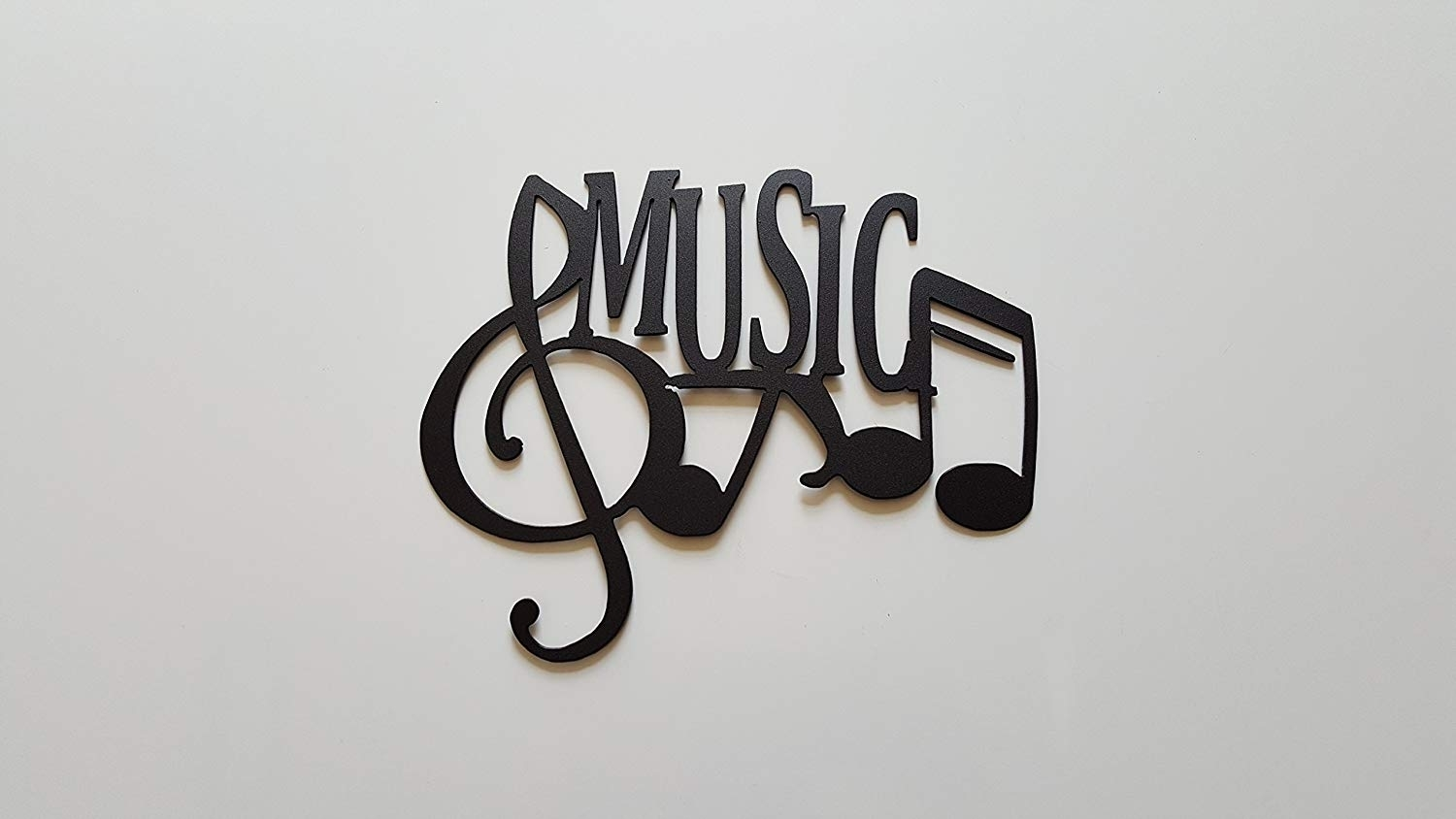 Amazon: Jnj Metalworks Music Word And Music Notes Metal Wall Art pertaining to Music Wall Art (Image 2 of 20)
