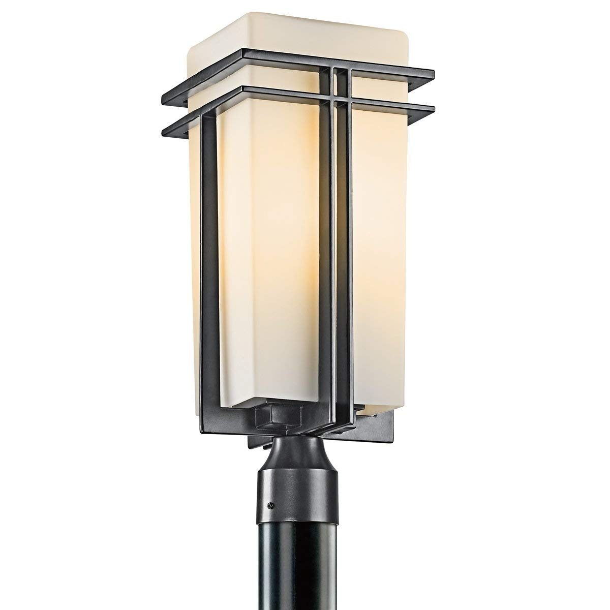 Amazon : Kichler 49207Bk Tremillo Outdoor Post Mount 1-Light intended for Outdoor Post Lanterns (Image 1 of 20)