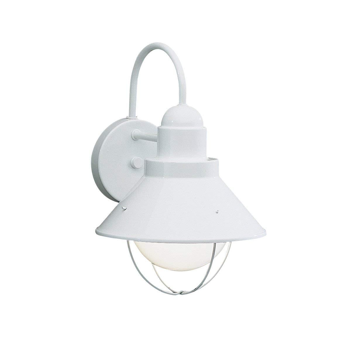 Amazon : Kichler 9022Wh Seaside Outdoor Wall Lantern, White for Outdoor Lanterns at Amazon (Image 2 of 20)
