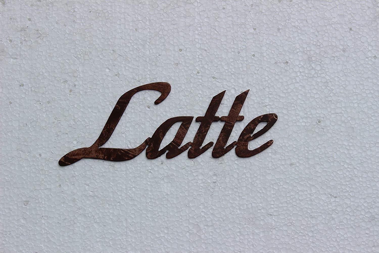 Amazon: Latte Word Kitchen Decor Antique Copper Metal Wall Art In Kitchen Metal Wall Art (View 20 of 20)