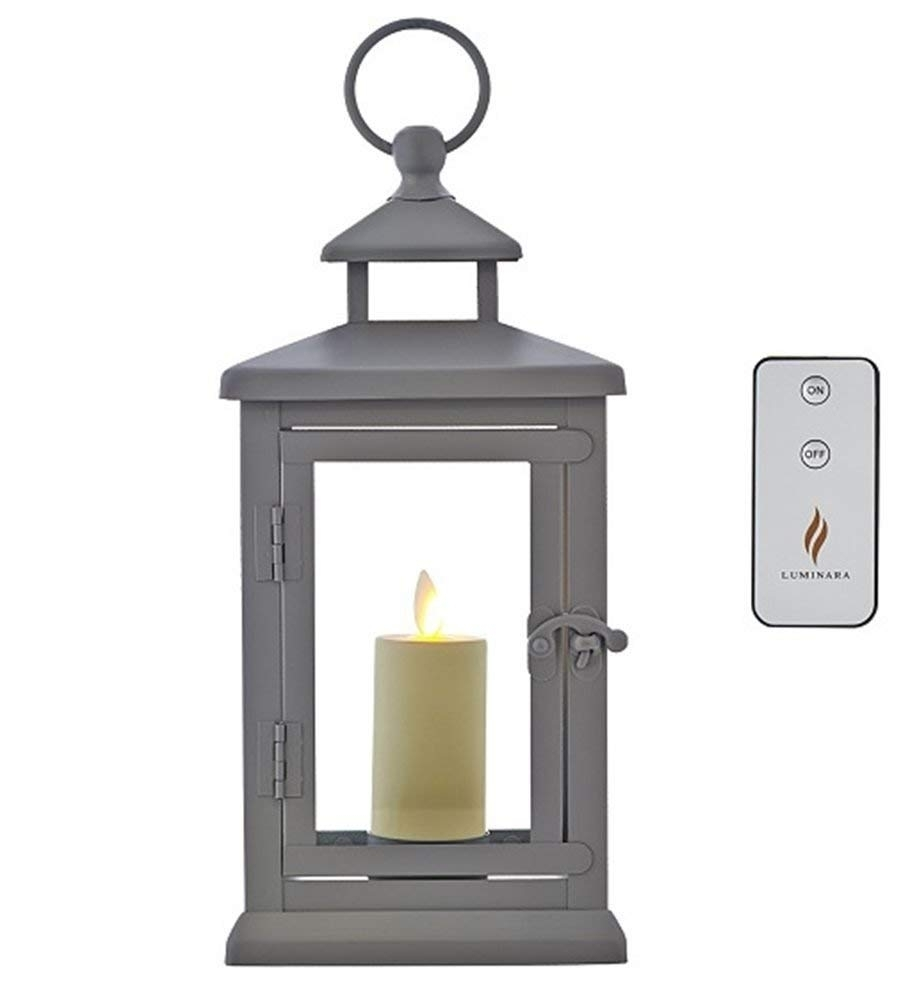 "Amazon : Luminara Hudson 11"" Lantern With Flameless Votive intended for Outdoor Lanterns And Votives (Image 2 of 20)"
