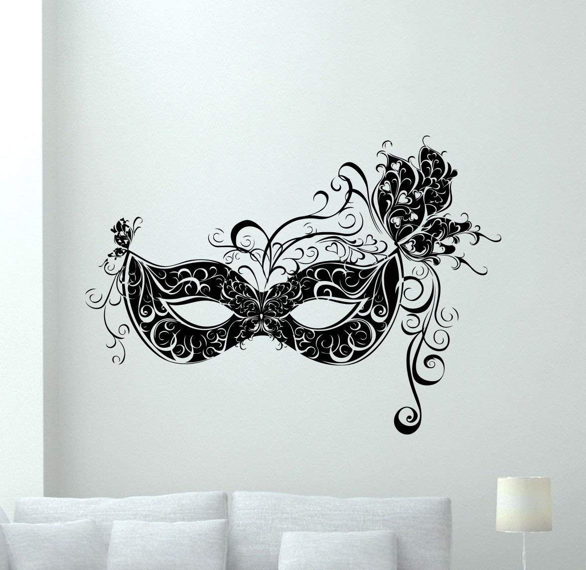 Amazon: Masquerade Mask Wall Decal Carnival Vinyl Sticker In Cool Wall Art (View 16 of 20)