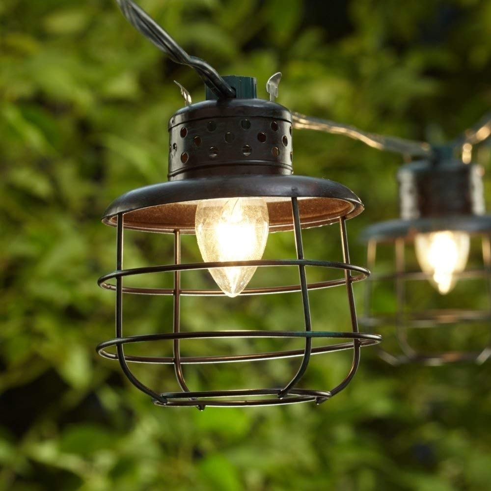 Amazon: Metal Cage Lantern String Party Lights - 10 Light Strand with Outdoor Rope Lanterns (Image 2 of 20)