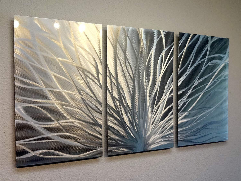 Amazon: Miles Shay Metal Wall Art, Modern Home Decor, Abstract Regarding Wall Art Panels (View 3 of 20)