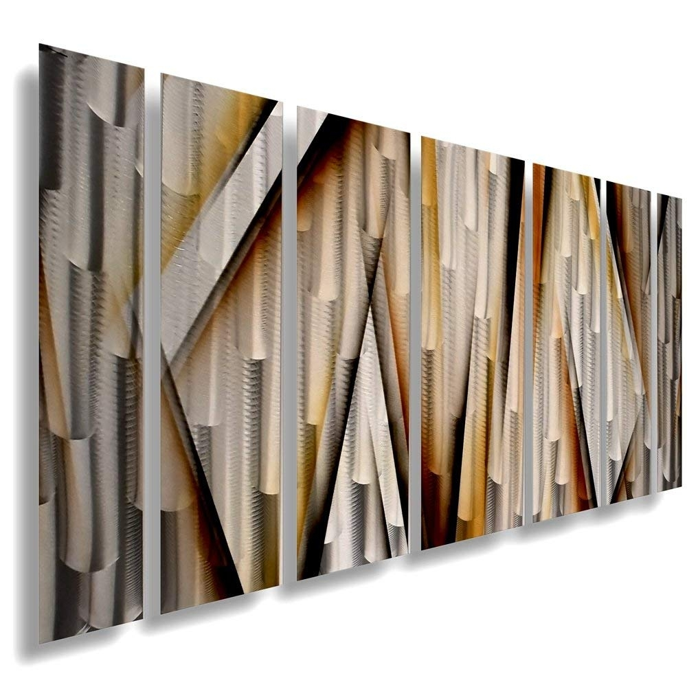 Amazon: Modern Contemporary Abstract Large Metal Wall Sculpture pertaining to Large Metal Wall Art (Image 2 of 20)