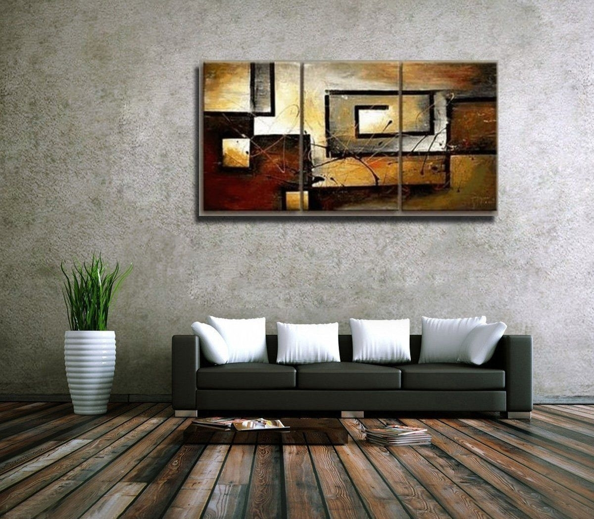 Amazon: Mon Art 100% Hand Painted Oil Painting Abstract Art For Large Contemporary Wall Art (View 12 of 20)