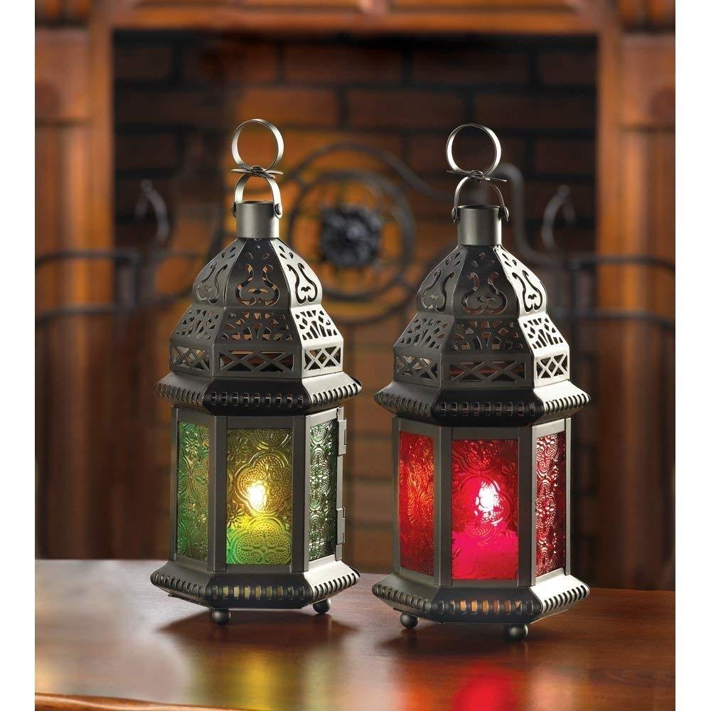 Amazon: Moroccan Lantern Outdoor, Large Outdoor Lanterns For with Moroccan Outdoor Lanterns (Image 3 of 20)