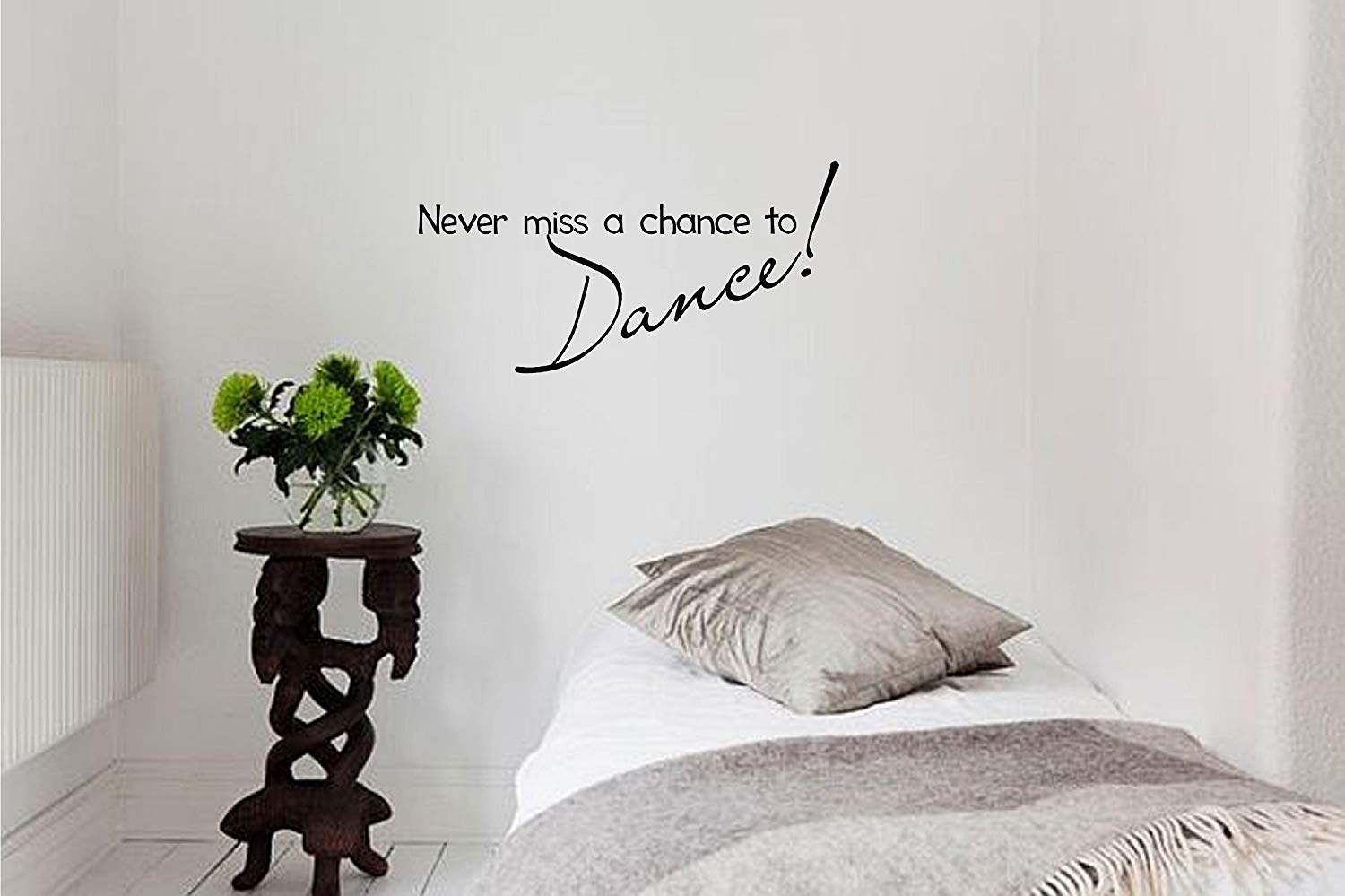 Amazon: Never Miss A Chance To Dance! Vinyl Wall Art With Regard To Wall Art Quotes (View 13 of 20)