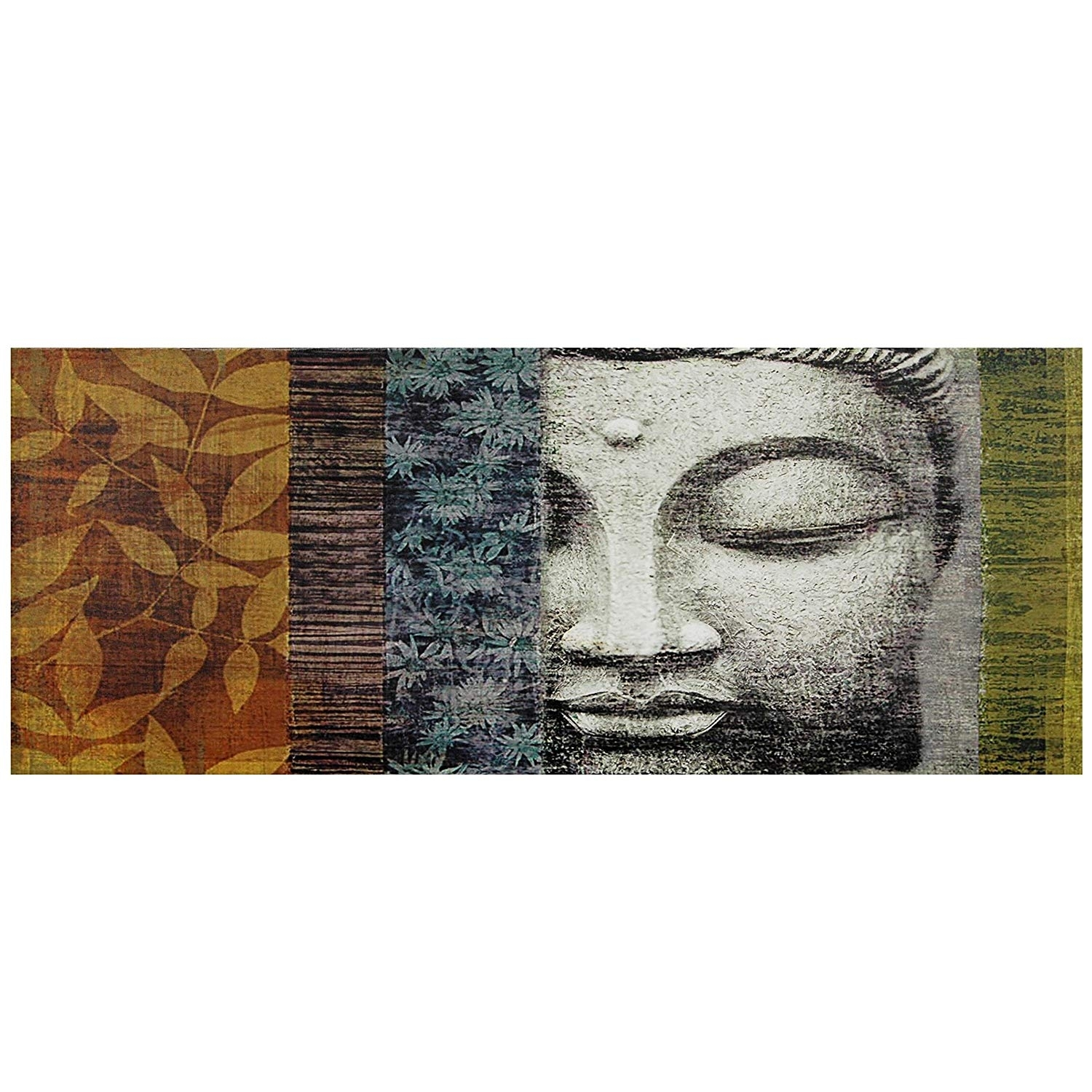 Amazon: Oriental Furniture Buddha Statue Canvas Wall Art Intended For Oriental Wall Art (View 1 of 20)