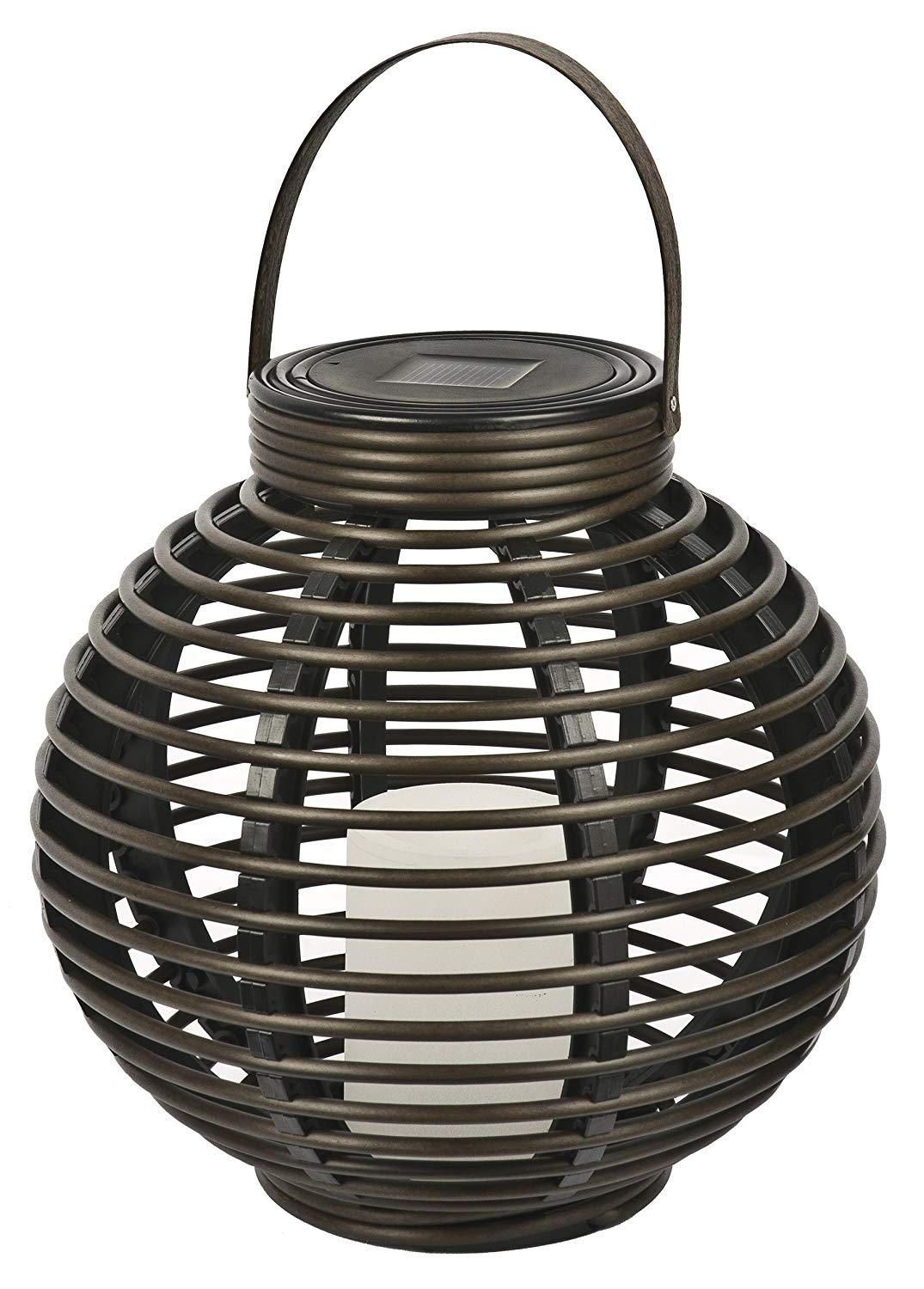 Amazon: Paradisesterno Home Solar Flickering Led Round For Outdoor Plastic Lanterns (View 2 of 20)