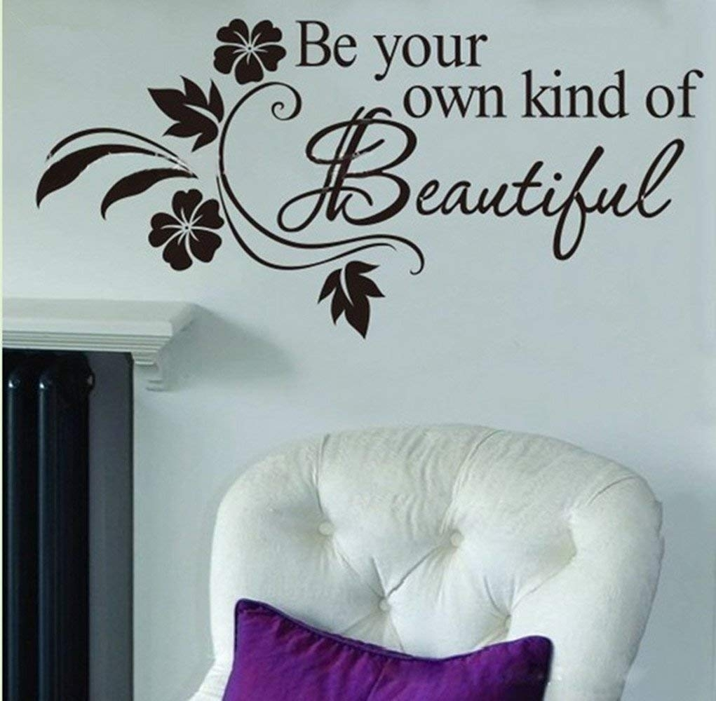 Amazon: Picniva Be Your Own Kind Of Beautiful Decals Flower Vine Throughout Wall Sticker Art (Photo 10 of 20)